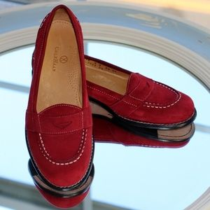 Cole Haan Scarlet Suede Penny Loafer